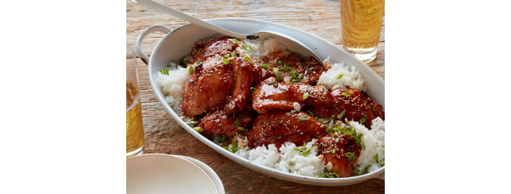 Rice with roast chicken